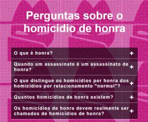 Perguntas sobre homicídios de honra