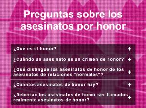 Preguntas sobre los asesinatos de honor