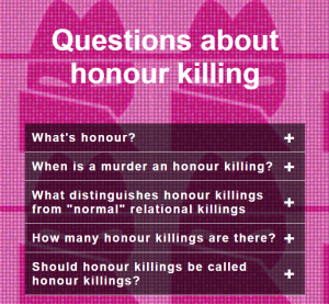 Questions about honour killings
