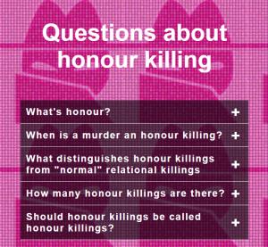 Questions about honour killings