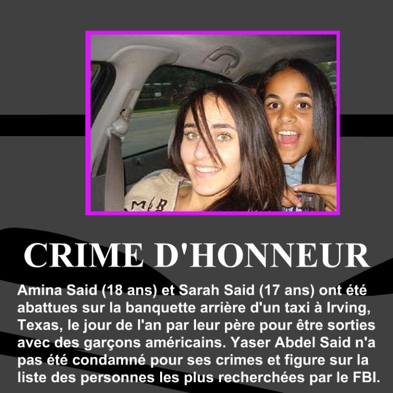 Amina-Said-Sarah-Said-crime-dhonneur