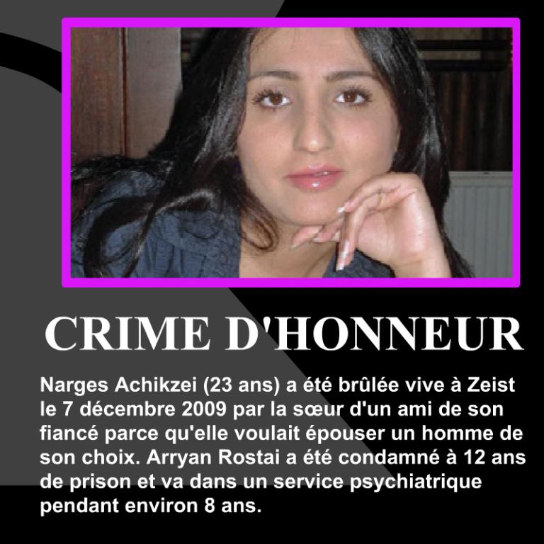 Narges-Achikzei-crime-dhonneur